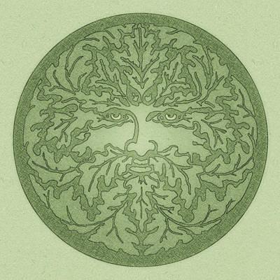Greenman Drawing - Greenman by Little Bunny Sunshine