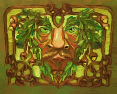 Painting - Greenman by Shelley Bain