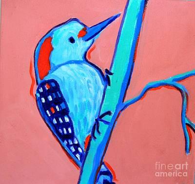 Painting - Greenough Woodpecker by Debra Bretton Robinson
