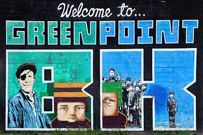Greenpoint Brooklyn Wall Graffiti Art Print