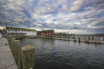Greenport Dock Art Print by Robert Seifert