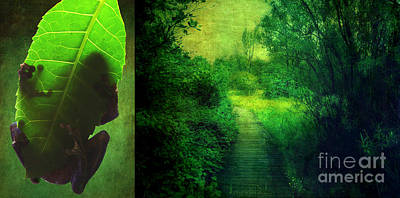 Digital Art - Greens by Aimelle
