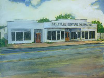 Painting - Greenville Furniture Exchange by Bryan Bustard