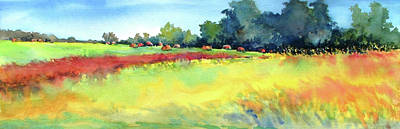 Bale Painting - Greenville Hayfield by Virgil Carter