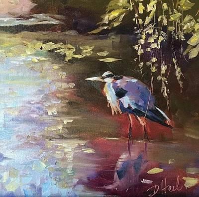 Herron Painting - Greenway Herron by Donna Heil