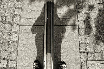 Photograph - Greenwich Meridian  by Shirley Mitchell