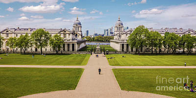Royal Naval College Photograph - Greenwich Park And The Old Royal Naval College England by Lexa Harpell