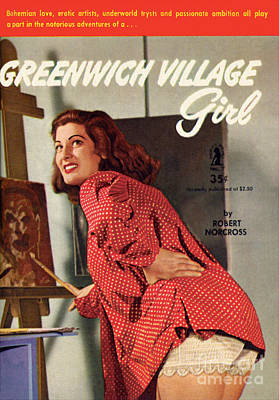 Print featuring the painting Greenwich Village Girl by Photo Cover