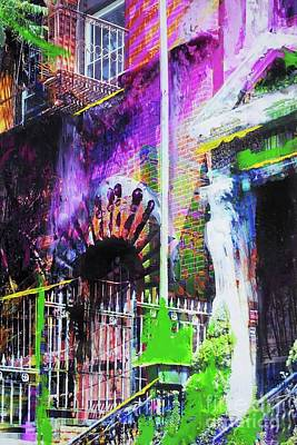 Entrance Door Mixed Media - Greenwich Village by Nica Art Studio