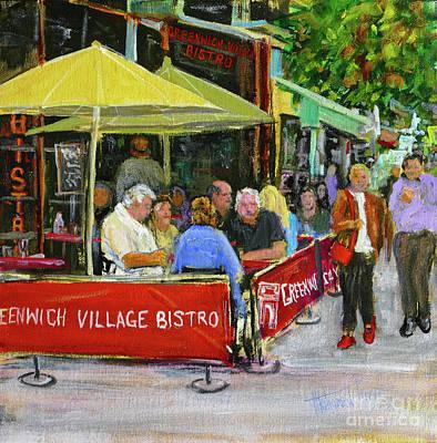 Menu Illustrations Painting - Greenwich Village Ny by Mohamed Hirji