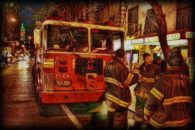 Fdny Photograph - Greenwich Village's Finest by Lee Dos Santos