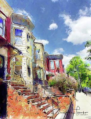Greenwood Street In Brooklyn Ny Art Print