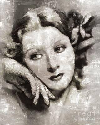 Greer Garson, Actress Art Print by Mary Bassett