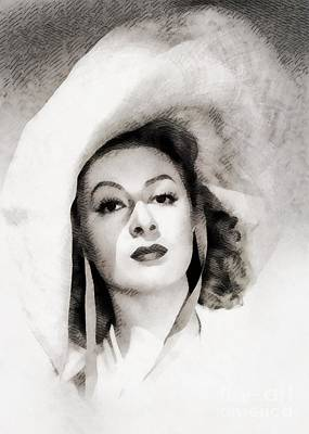 Musicians Royalty-Free and Rights-Managed Images - Greer Garson, Vintage Actress by John Springfield by John Springfield