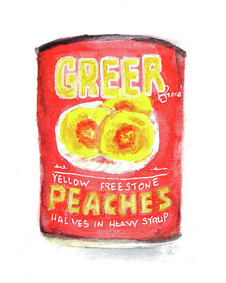 Painting - Greer Peaches by Laura K Aiken