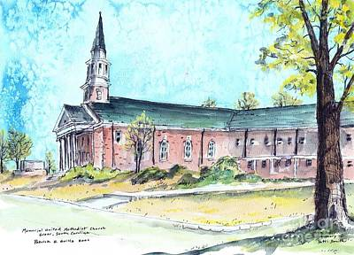 Greer United Methodist Church Art Print by Patrick Grills