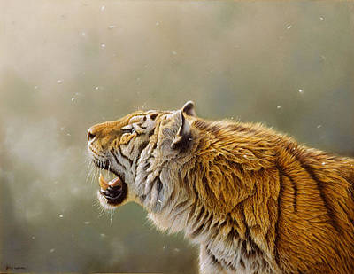 Tiger Painting - Greeting The First Snows Of Winter by Eric Wilson