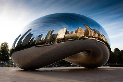 Chicago Wall Art - Photograph - Greeting The Sun by Daniel Chen