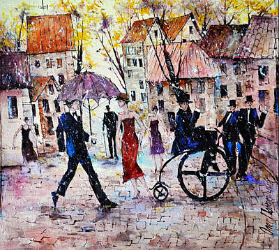 Painting - Greetings Autumn by Oleg  Poberezhnyi