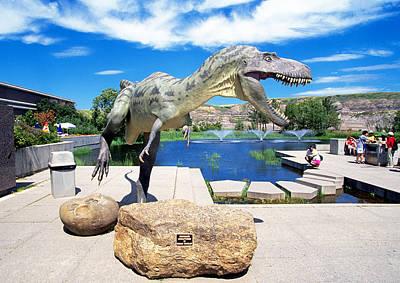 Dinosaur Photograph - Greetings. by Buddy Mays