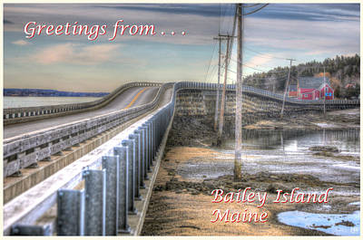 Photograph - Greetings From Bailey Island by John Meader