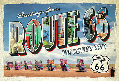Painting - Greetings From Route 66 by Christopher Arndt