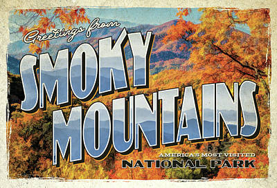 Painting - Greetings From Smoky Mountains National Park by Christopher Arndt