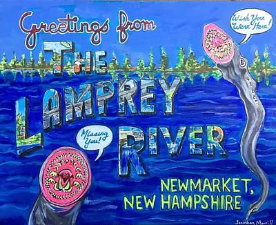 Greetings From The Lamprey River Art Print