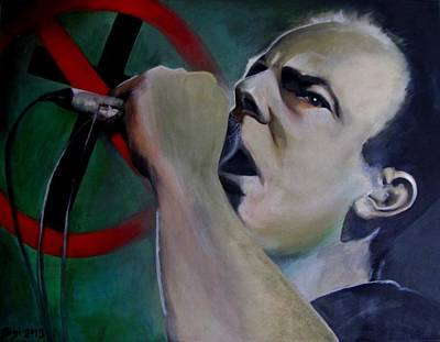 Educators Painting - Greg Graffin Bad Religion by Sigi Schlosser