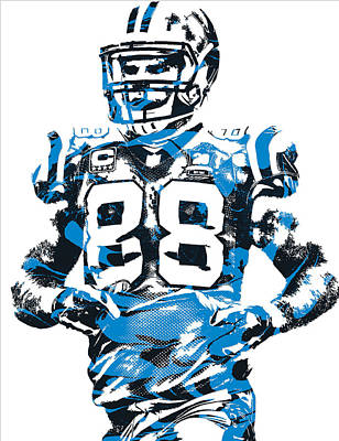 Panther Mixed Media - Greg Olsen Carolina Panthers Pixel Art 5 by Joe Hamilton