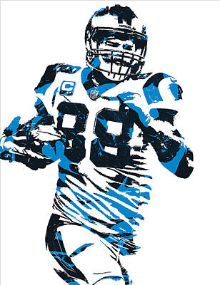 Panther Mixed Media - Greg Olsen Carolina Panthers Pixel Art 6 by Joe Hamilton