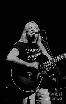 Photograph - Gregg Allman Playing Guitar by Concert Photos