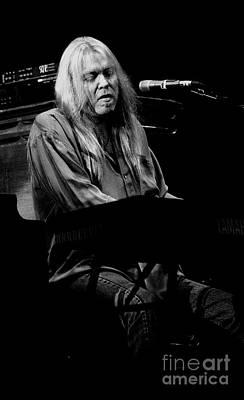 Photograph - Gregg Allman Vintage Bw Photo by Concert Photos
