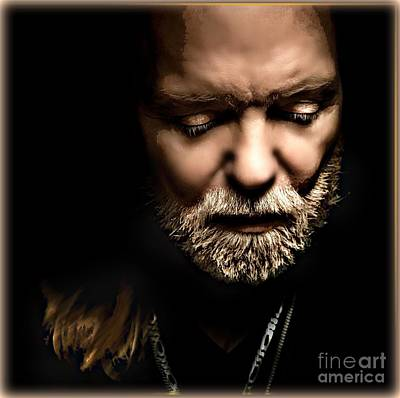 Mixed Media - Gregg Allman by Wbk