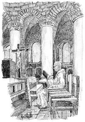 Gregorian Chant Abbazia Of Sant'antimo Print by Ken Pieper
