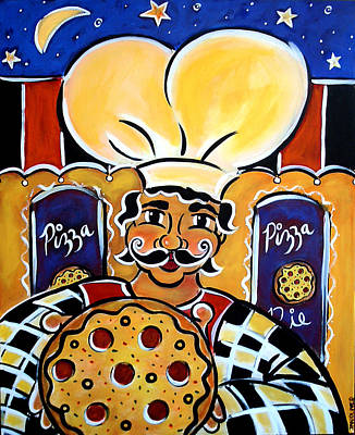 Painting - Gregorios Pizzeria by Jan Oliver-Schultz