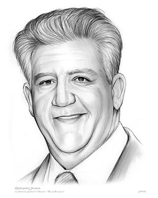 Drama Drawing - Gregory Jbara by Greg Joens