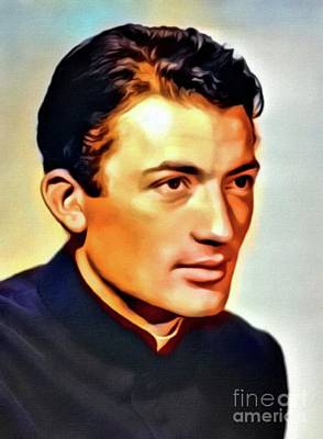 Business Digital Art - Gregory Peck, Vintage Hollywood Actor. Digital Art By Mb by Mary Bassett