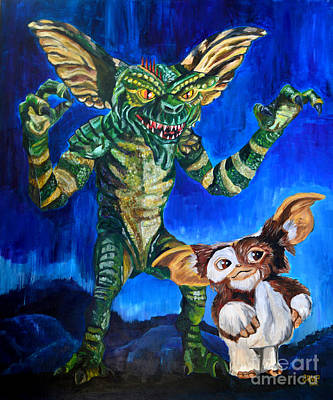 Gremlin Painting - Gremlins by Jose Mendez