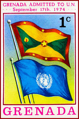 Unity Painting - Grenada Admitted To U.n. by Lanjee Chee