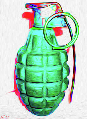 A Hand-thrown Painting - Grenade Green,a,nixo by Nicholas Nixo