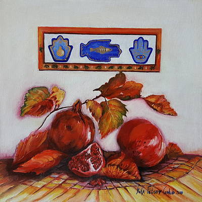 Painting - Grenades With Judaism Symbols by Rita Fetisov