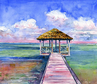 Painting - Grenadines Caribbean by John D Benson