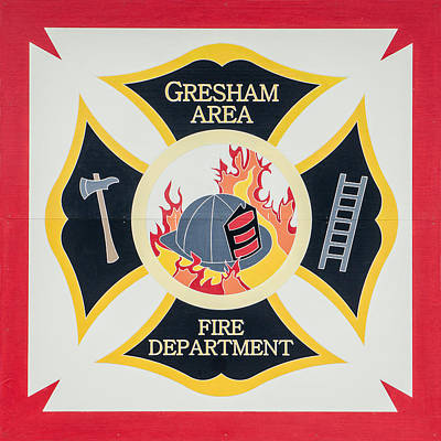 Photograph - Gresham Area Fire Department  Barn Quilt by Susan  McMenamin