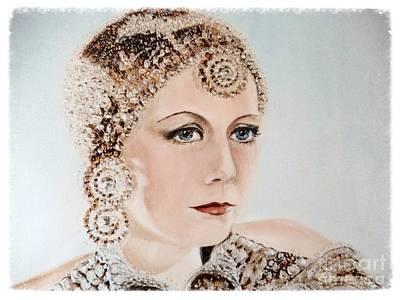 Greta Garbo Painting - Greta Garbo As Matahari by Barbara Chase