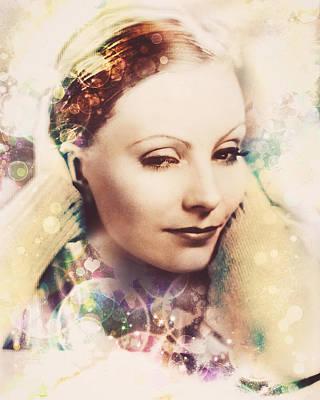 Digital Art - Greta Garbo - Bokeh by Darlanne