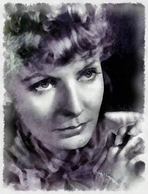 Greta Garbo Painting - Greta Garbo By John Springfield by John Springfield