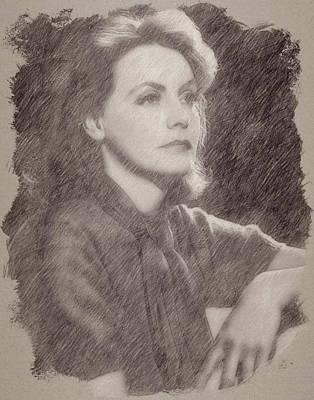 Celebrities Paintings - Greta Garbo by Esoterica Art Agency