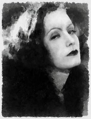 Greta Garbo Art Print by Esoterica Art Agency