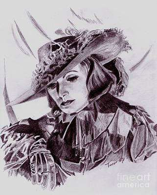 Drawing - Greta Garbo by Toon De Zwart